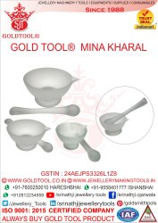 Gold Tool Mortar And Pestle
