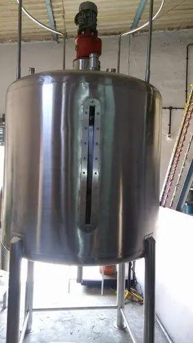 Mango Pulp Mixing Tank  - All SS 304 Grade