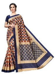 Wedding Wear Printed Silk Saree, With Blouse Piece