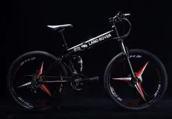 Black Land Rover Foldable Cycle