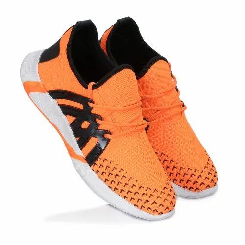 Men Orange Designer Casual Shoes, Size