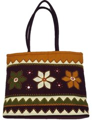 Aplic Thread And Patchwork Designer Vintage Banjara Tote Handbag