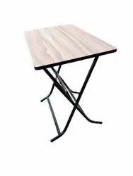 Creative Enterprises Brown Rectangular Wooden Folding Dining Table