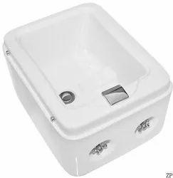 Ceramic White Salon Wash Basin