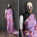Japan Satin Saree Pearl Lace Saree