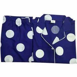 Casual Wear Blue Ladies Rayon Nightwear Palazzo