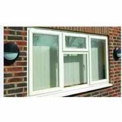 Residential UPVC Plain Casement Windows, Glass Thickness: 6 Mm