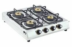 STAINLESS STEEL GAS CHULA FOUR BURNER