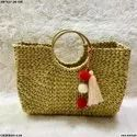 Palm Leaf Straw Basket