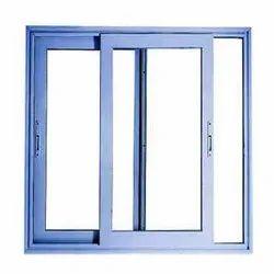 Powder Coated Blue Aluminium Sliding Window