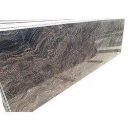 Black 10 Mm Himalayan Blue Zig-Zag Granite Slab, For Flooring