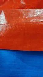 170 GSM Orange Navy Blue HDPE Tarpaulin