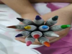 Paper Green Stick Crayons, For Coloring
