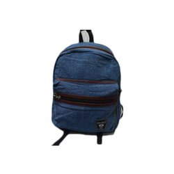 Blue Shiwakoti Mini Denim Backpack, Number Of Compartments: 3, Bag Capacity: 8 Kg