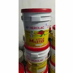 Soft Sheen White Nerolac Little Master Acrylic Emulsion, For Interior Walls, Packaging Size: 20 L