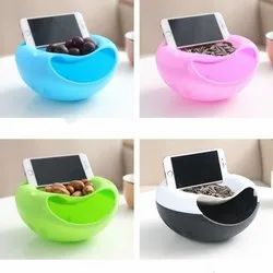 Detachable Fancy Snacks Bowl (Random Colors)