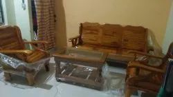 Own Brown Teak Sofa set, For Home