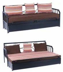 Metal Sofa Cum Bed With  Storage