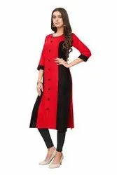Formal Wear Regular Rayon 14 Kg Kurti, Wash Care: Machine wash
