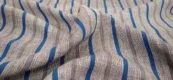 Dhyanu 140 GSM Check Linen Shirting Fabric, Machine wash