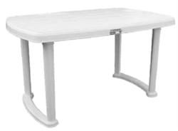 Samruddhi White Charls Plastic Table