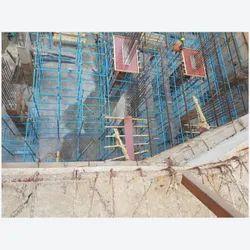 Color Galvanized Mild Steel Cuplock System Vertical Standard Scaffolding, For Building Construction