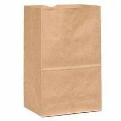 Brown Plain Kraft Paper Bag, Storage Capacity: 1.5 Kg