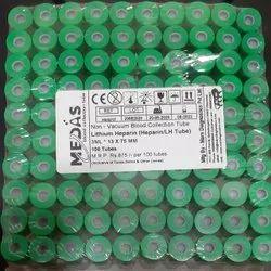 Lithium Heparin Green Non Vacuum Tube