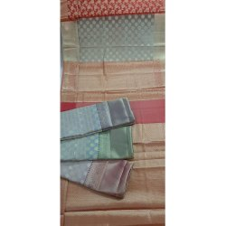 004 Poly Cotton Zari Saree