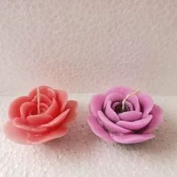 Round Flower Floating Wax Candle, For Diwali