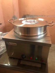 2kw Stainless Steel Commercial Momo Steamer, Capacity: 14inch Diameter Bowl, Size/dimension: 16 X 16 Inches