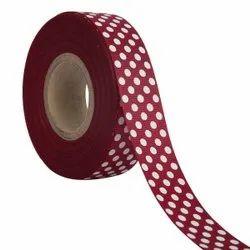 Polka Dots Wine Ribbons 25mm/1''inch Gross Grain Ribbon 20mtr Length