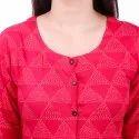 Women Embellished Rayon Straight Kurta