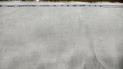 70 Lea White Linen Fabric, GSM: 140 GSM