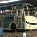 Pu Paint Color Coated Bus Bodies