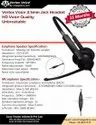 Wired Overhead Vertex Voice 3.5mm High Definition Call Center Headset With Controller