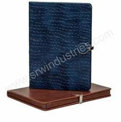 皮革纹理优质笔记本,商业