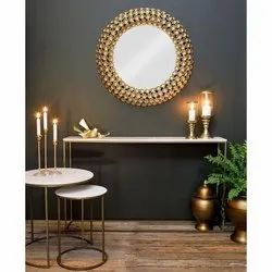 Golden Iron Decorative Mirrors, For Home Decoration