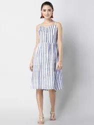 Stitch Ladies Cotton Western Dress, Size: M-xxl
