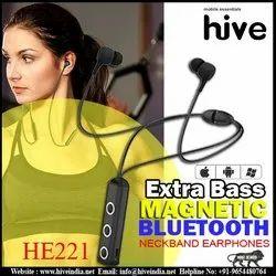 Hive Black HE221 , Necklace Bluetooth Earphones