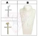 Holy Cross Shape Pendant With Cubic Zircon For Unisex