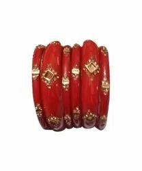 Regular Traditional Red Designer Bangles