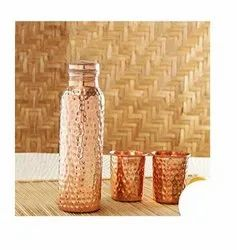 Hammered,Printed & Plain Round Copper Glass, Size: 75ml, Capacity: 75 Ml