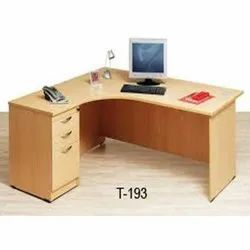 Modern Brown T-193 Wooden Drawer Table