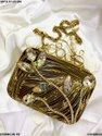 Exclusive Brass MOP Clutches