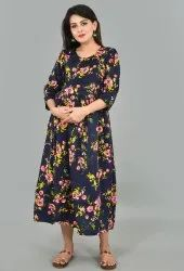 Printed Maternity Gown