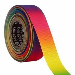 Gross Grain Ombre - Red, Orange, Yellow, Green, Ribbons25mm/1''inch Gross Grain Ribbon 20mtr Length