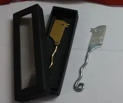 Stainless Steel Cheese Knife, For Tabletop, Finish: Gold