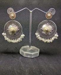 Dual Tone Gold Plated Earrings