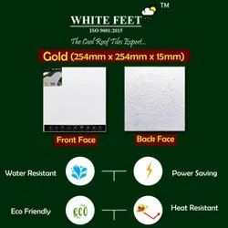 Cool Weather Roof Tile - White Feet Tile - Gold - 254mm x 254mm x 15mm